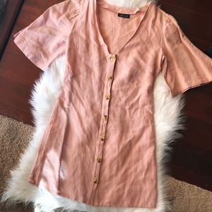 Topshop Mini Ruffle Sleeve Dress
